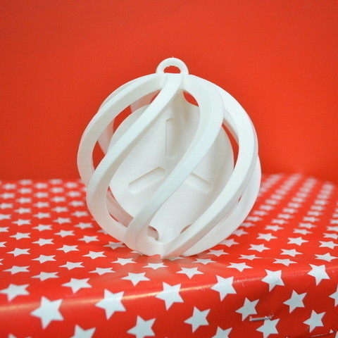 Download free 3D printer files FabShop Spinning Christmas Ball, leFabShop