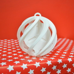 Free 3D printer model FabShop Spinning Christmas Ball, leFabShop
