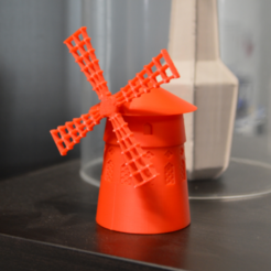 Download free 3D printing templates Le Moulin-Rouge, leFabShop