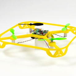 LFS-Mini-DRONE-jaune.png Download free STL file MINI DRONE • Design to 3D print, leFabShop