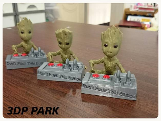 ae566253288191ce5d879e51dae1d8c3_preview_featured.jpg Download free STL file Baby Groot 5-1 (Don't Push This Button) • Design to 3D print, 3DP_PARK