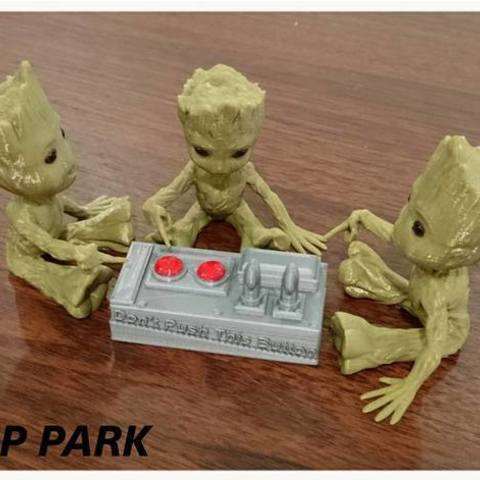 156005c5baf40ff51a327f1c34f2975b_preview_featured.jpg Download free STL file Baby Groot 5-1 (Don't Push This Button) • Design to 3D print, 3DP_PARK