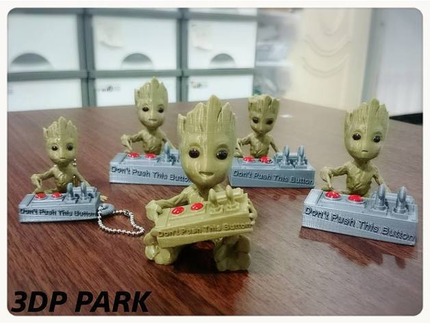 8cda81fc7ad906927144235dda5fdf15_preview_featured.jpg Download free STL file Baby Groot 5-1 (Don't Push This Button) • Design to 3D print, 3DP_PARK