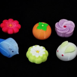3d printer model Japanese Desserts - no hole (6 types), 3DP_PARK