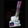 Capture d'écran 2017-03-16 à 11.00.22.png Download free STL file Double face pen holder ( Lion and Peacock) • 3D printer template, 3DP_PARK