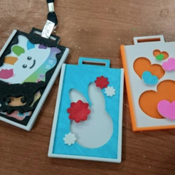 Free 3d print files Necklace card holder, 3DP_PARK