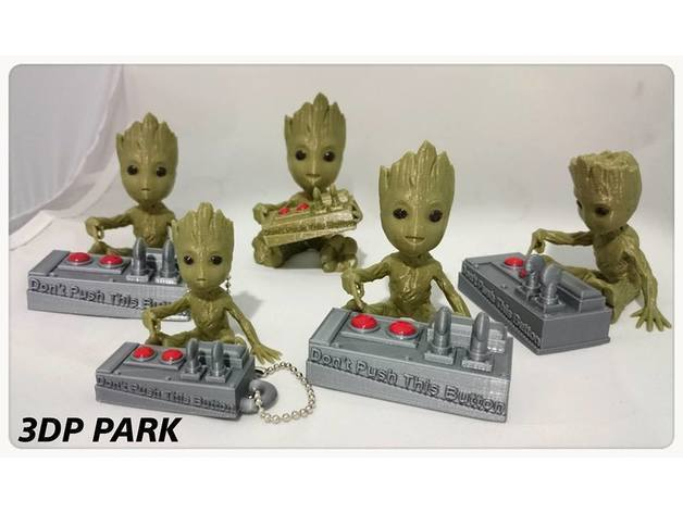 799bad5a3b514f096e69bbc4a7896cd9_preview_featured.jpg Download free STL file Baby Groot 5-1 (Don't Push This Button) • Design to 3D print, 3DP_PARK