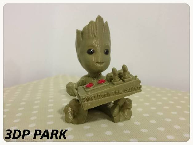 58168278cae4cd8ec66c6fb74fe80408_preview_featured.jpg Download free STL file Baby Groot 5-1 (Don't Push This Button) • Design to 3D print, 3DP_PARK