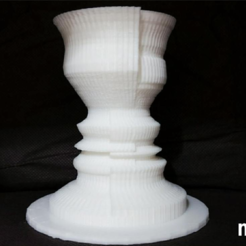 "Free 3d printer model ""2 Faces"" flower Vase - illusion, 3DP_PARK"