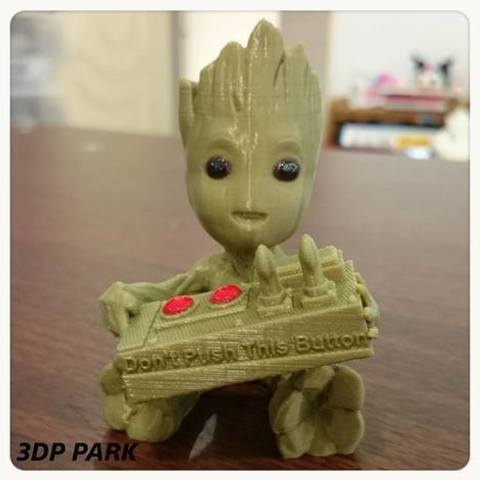 d0096ec6c83575373e3a21d129ff8fef_preview_featured.jpg Download free STL file Baby Groot 5-1 (Don't Push This Button) • Design to 3D print, 3DP_PARK