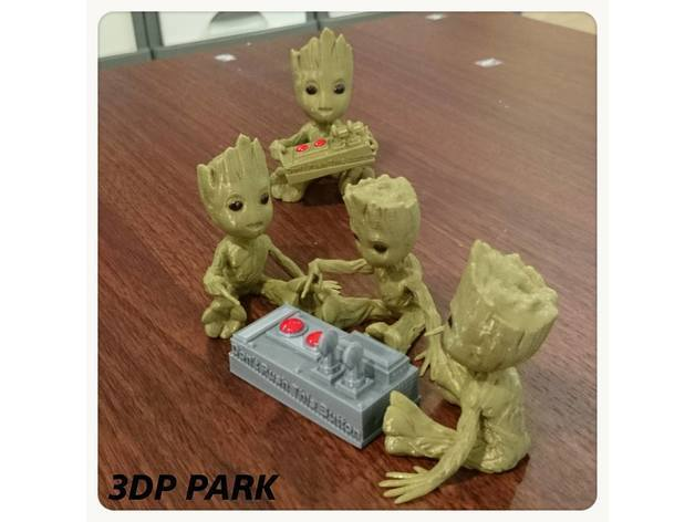 30e62fddc14c05988b44e7c02788e187_preview_featured.jpg Download free STL file Baby Groot 5-1 (Don't Push This Button) • Design to 3D print, 3DP_PARK