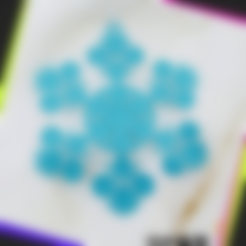 Download free STL file snowflake • 3D print template, 3DP_PARK