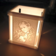 Download free STL file Picture (up light) - Beauty • Design to 3D print, 3DP_PARK