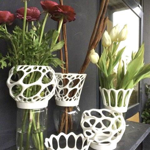 2.jpg Télécharger fichier STL Vase à visser sur des bocaux de confiture • Objet imprimable en 3D, gregoware
