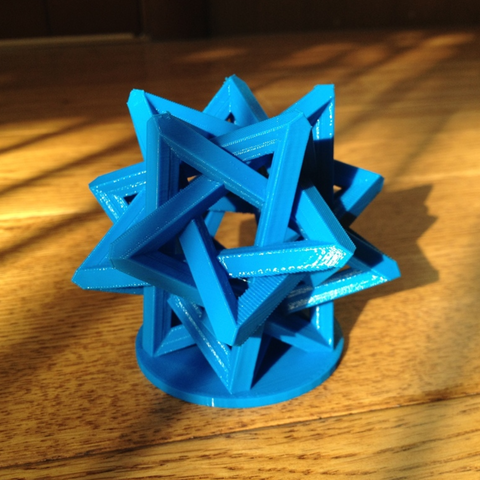 Download free 3D printer designs Interlocking Tetrahedra, Roger