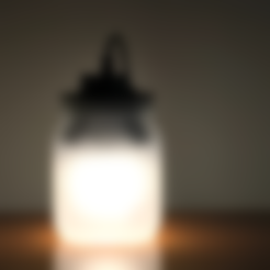 3d printer designs Jar Lamp, Roger