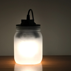 3D printer models Jar Lamp, Roger