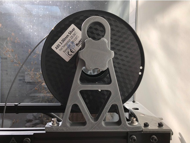 dabf8c16b8f49d2903f0885a08ceea17_preview_featured.JPG Download free STL file Extended Overhead Filament Spool Holder (Lulzbot TAZ) • 3D printable object, Roger