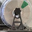 Free 3D print files Extended Overhead Filament Spool Holder (Lulzbot TAZ), Roger