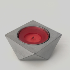 STL Reversible Candle Holder (Square), Roger