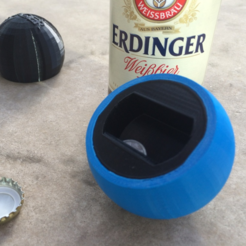Download free 3D printing templates Sphere Bottle Opener, Roger