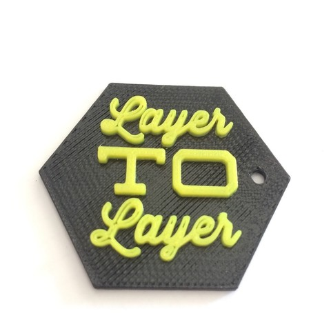 Download free STL file LayerToLayer KayChain • 3D printer model, RobB