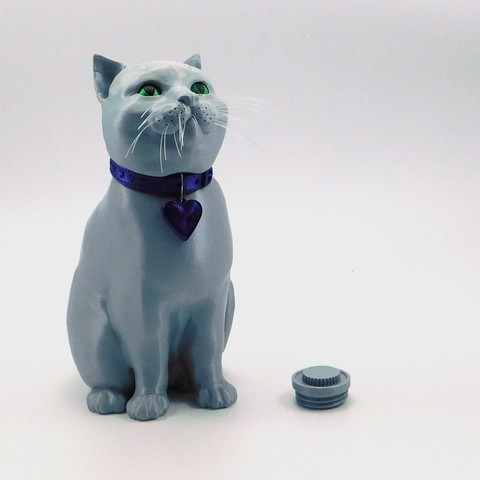 single_extrusion5.jpg Download STL file SCHRODINKY: BRITISH SHORTHAIR CAT IN A BOX – 3D PRINTABLE, MULTI PART MODEL - SINGLE EXTRUSION PACKAGE • 3D printer design, loubie