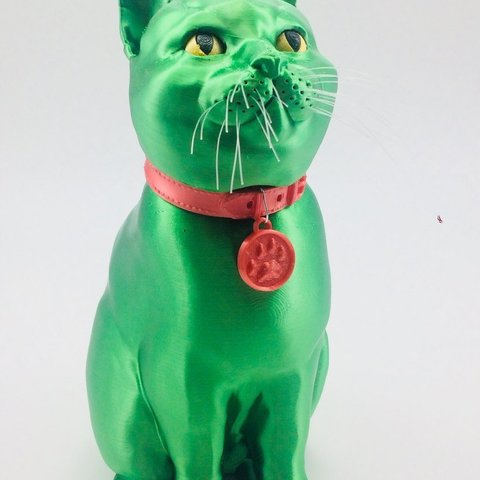 kitty_single.jpg Download STL file SCHRODINKY: BRITISH SHORTHAIR CAT IN A BOX – 3D PRINTABLE, MULTI PART MODEL - SINGLE EXTRUSION PACKAGE • 3D printer design, loubie
