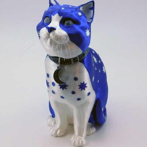 kitty_wizard_polyalchemy_2.jpg Download STL file Schrodinky: British Shorthair Cat in a Box – 3D Printable, Multi Part Model - MULTI EXTRUSION PACKAGE • Object to 3D print, loubie