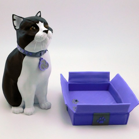 cults3d_cats4.jpg Download STL file Schrodinky: British Shorthair Cat in a Box – 3D Printable, Multi Part Model - MULTI EXTRUSION PACKAGE • Object to 3D print, loubie