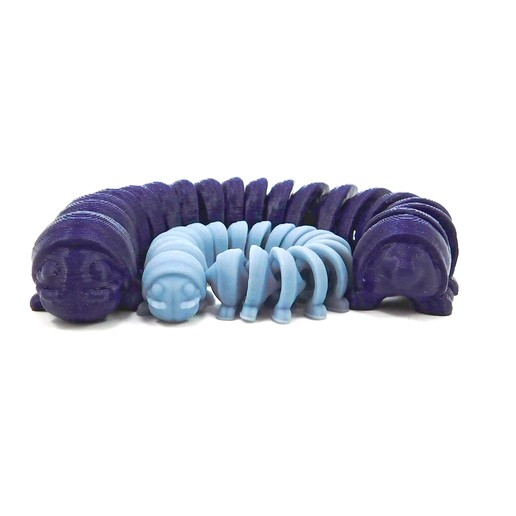 Download free 3D model Milli: Print in place, support free,articulated millipede, loubie