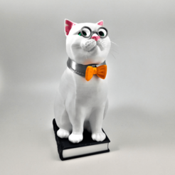"Download 3D printer designs Murphy the Library Cat: Multi Material ""Top Up"" (Multi Material files only!!), loubie"