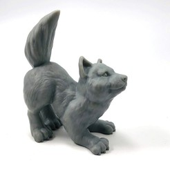 wolf_3.jpg Download free STL file Wolfie: supports free wolf cub sculpt • 3D printable model, loubie