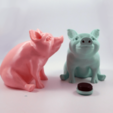 Download 3D printer files Piggy Sitting: Piggy Bank Version, loubie