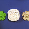 Free 3D model Tudor Rose Testing Piece and Pendant, loubie