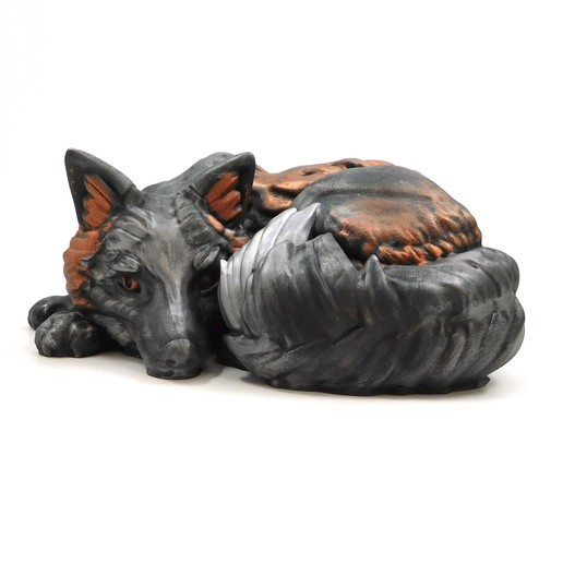 Download free STL file Foxy! Melanistic Fox model (single and multi material versions) • 3D print object, loubie