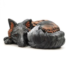 foxy_painted_1.jpg Download free STL file Foxy! Melanistic Fox model (single and multi material versions) • 3D print object, loubie