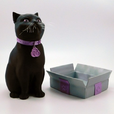 cults3d_cats5.jpg Download STL file SCHRODINKY: BRITISH SHORTHAIR CAT IN A BOX – 3D PRINTABLE, MULTI PART MODEL - SINGLE EXTRUSION PACKAGE • 3D printer design, loubie