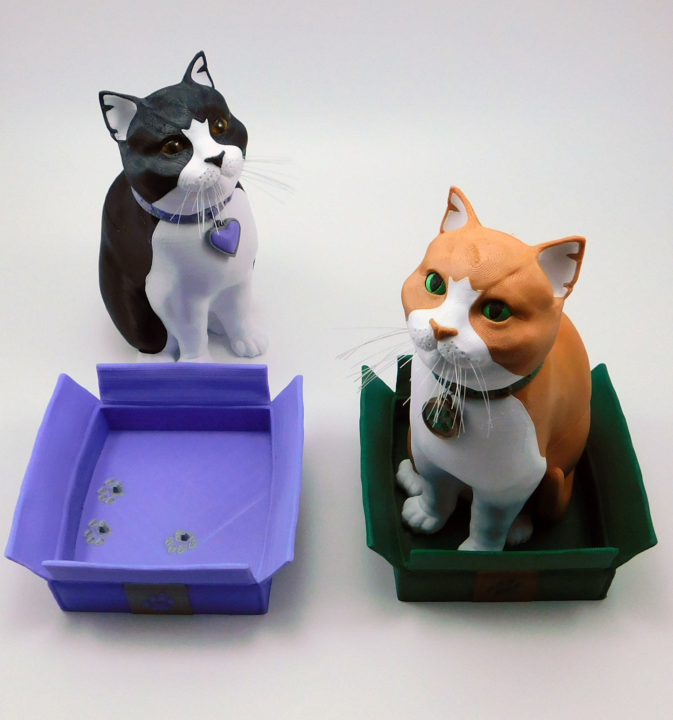 cats_and_boxes.jpg Download STL file Schrodinky: British Shorthair Cat in a Box – 3D Printable, Multi Part Model - MULTI EXTRUSION PACKAGE • Object to 3D print, loubie