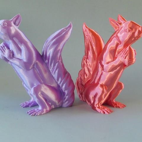 squizzles_2.jpg Download free STL file Squizzle! A No supports Squirrel Sculpt • 3D print model, loubie