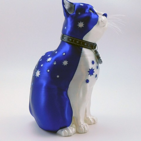 kitty_wizard_polyalchemy_4.jpg Download STL file Schrodinky: British Shorthair Cat in a Box – 3D Printable, Multi Part Model - MULTI EXTRUSION PACKAGE • Object to 3D print, loubie