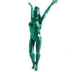 green_goddess_1.jpg Télécharger fichier STL gratuit Sorcière : Spellcaster (assemblage - impression grand format) • Objet imprimable en 3D, loubie