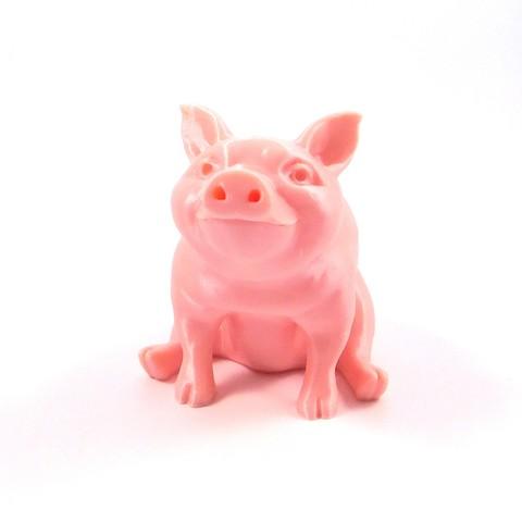 Télécharger fichier imprimante 3D gratuit Piggy Sitting(Sir Pigglesfree) : version simple extrusion, loubie