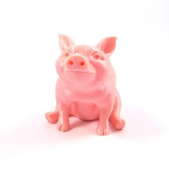 piggy_single_1.jpg Download free STL file Piggy Sitting(Sir Pigglesfree): single extrusion version • Design to 3D print, loubie