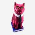 STL files Murphy The Library Cat (with secret book box) -Single Material Package (Complete Single Material Model), loubie