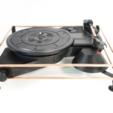 Free STL Atom Spinbox - A 3D DIY Portable Turntable Kit, ATOM3dp