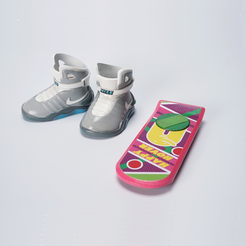Back-To-Future.png Download free STL file Back to the future Nike Sneakers & HOVER BOARD made by ATOM 3D printer • 3D printing design, ATOM3dp