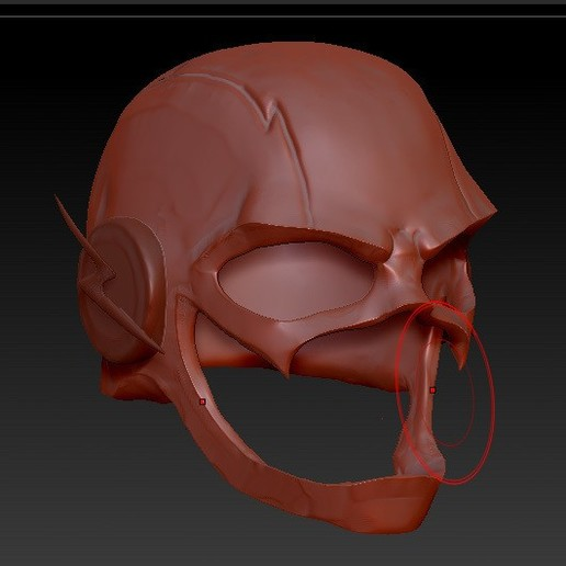 Download free 3D print files the Flash helmet, thePixelsChips