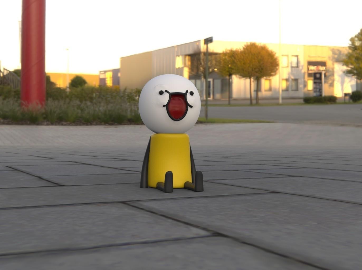 omino.10.jpg Download free STL file Un omino (a stickman) seduto • 3D print design, thePixelsChips