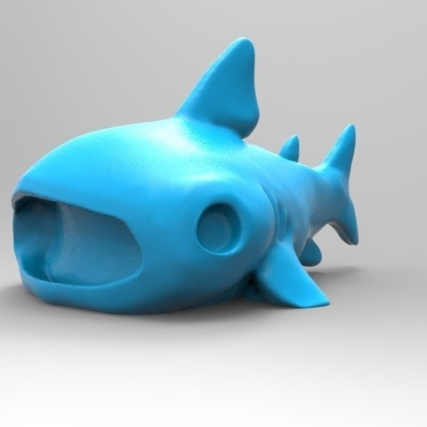 Archivos STL gratis Bonito tiburón ballena, ilovedoom